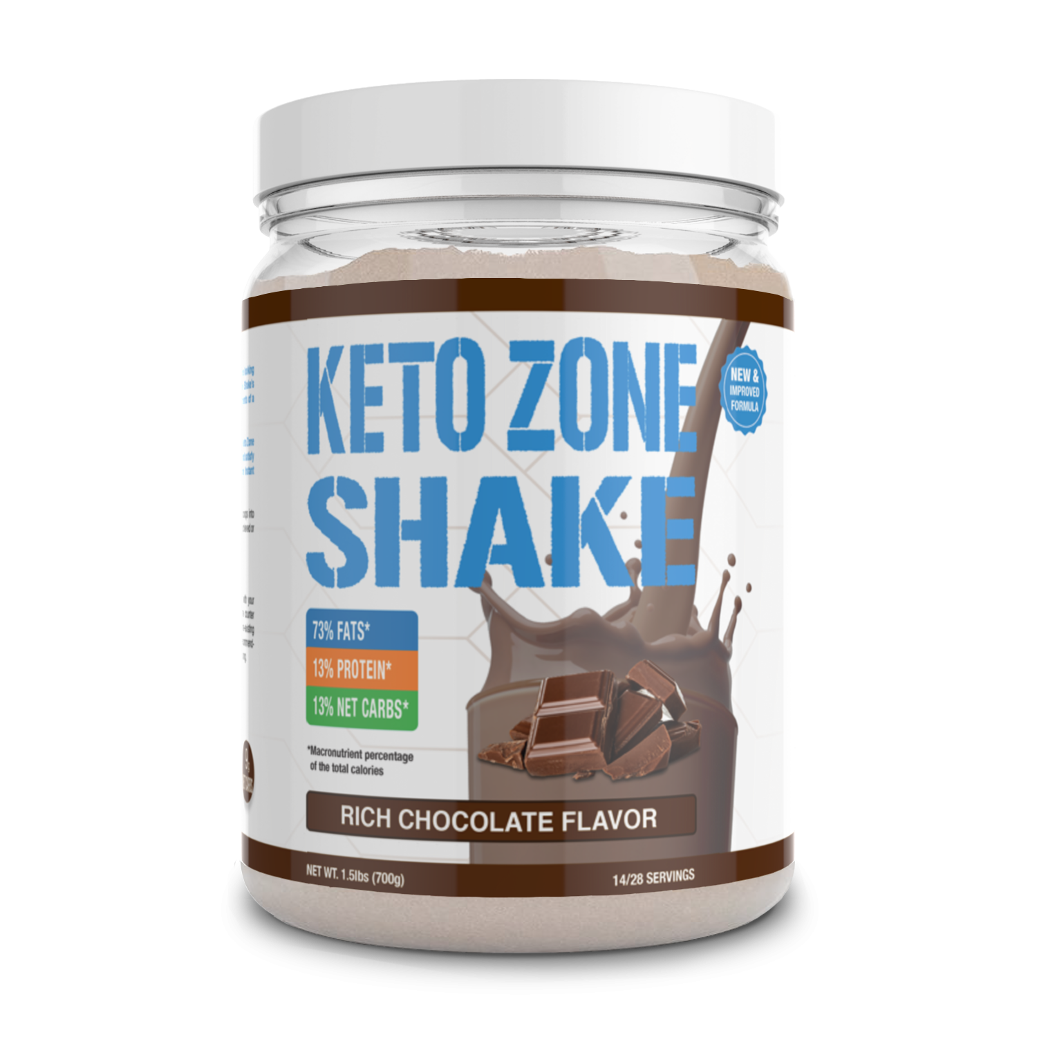 Keto Zone Shake (Rich Chocolate Flavor)