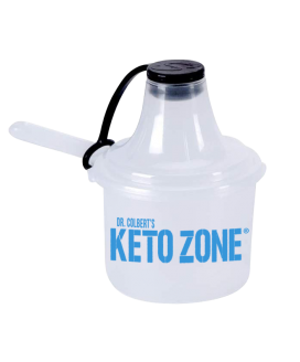Keto Zone® Scoopie   Plastic Short Handle Scoop with Attached Funnel   Travel Friendly   Clear 25 cc   25ml = 2 tbsp  