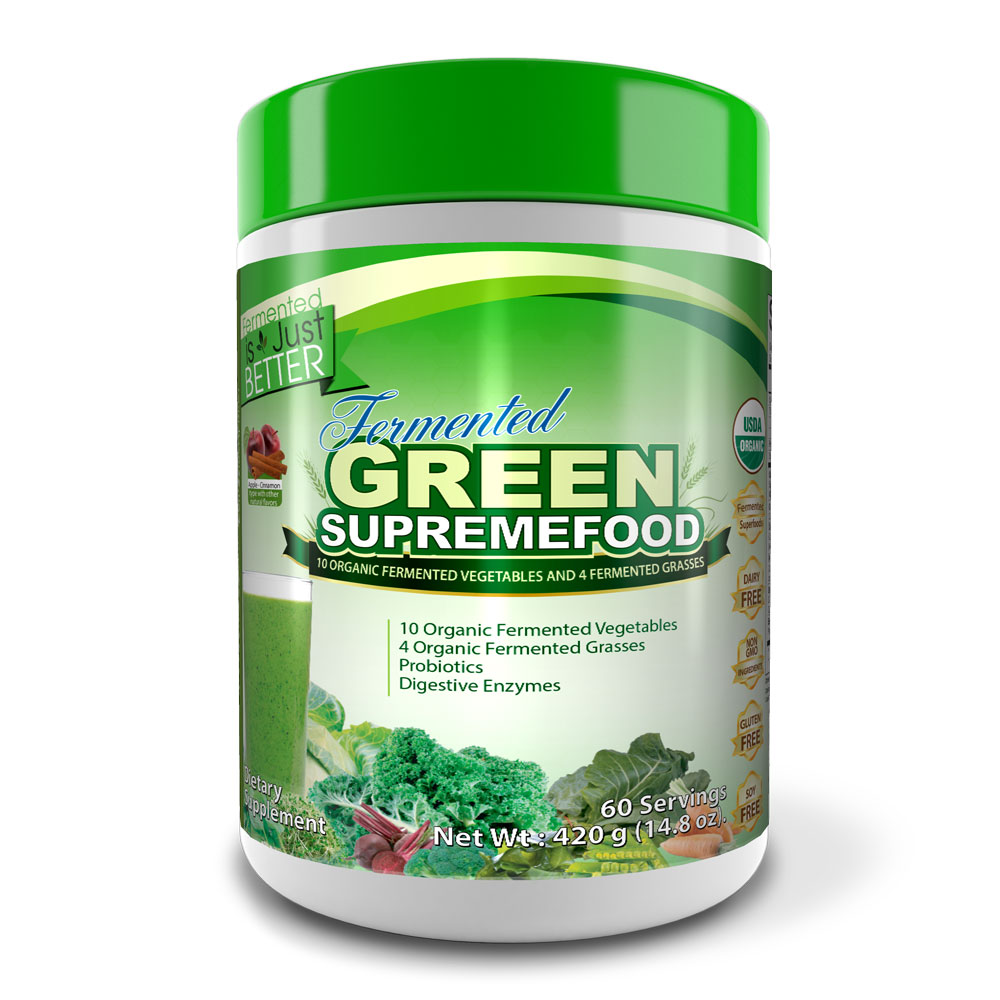 Fermented Green Supremefood® (60 Day Supply) (Apple Cinnamon)