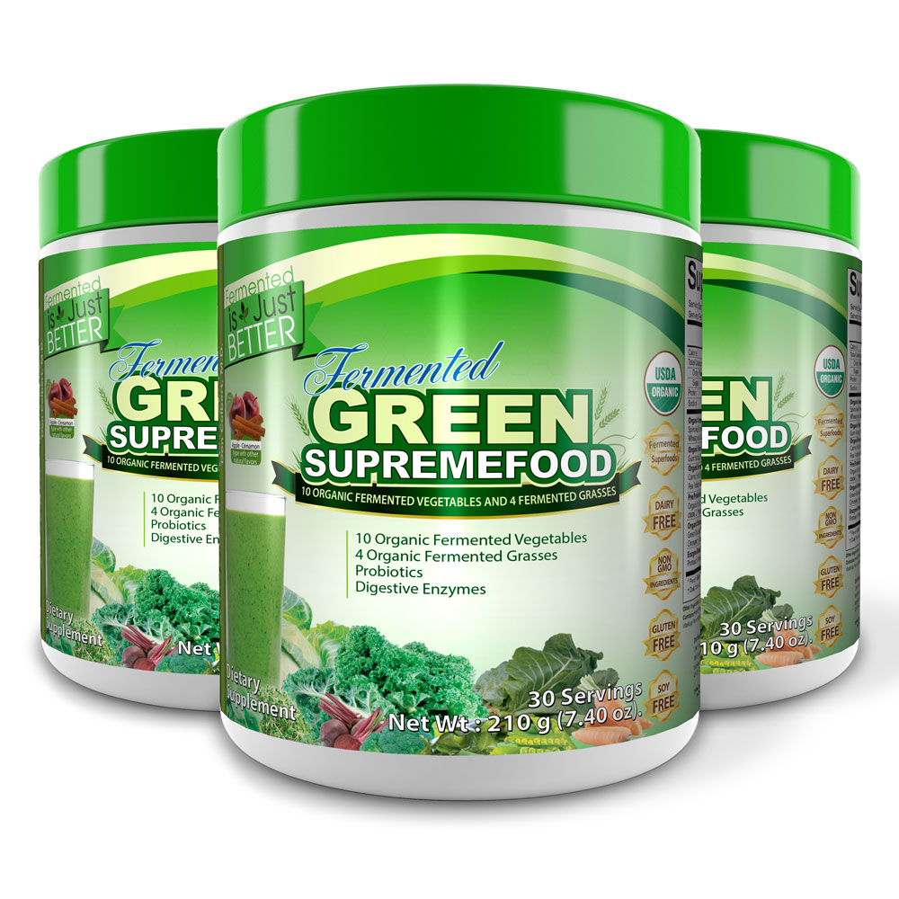 Fermented Green Supremefood® (Apple Cinnamon) (90 Day Supply)