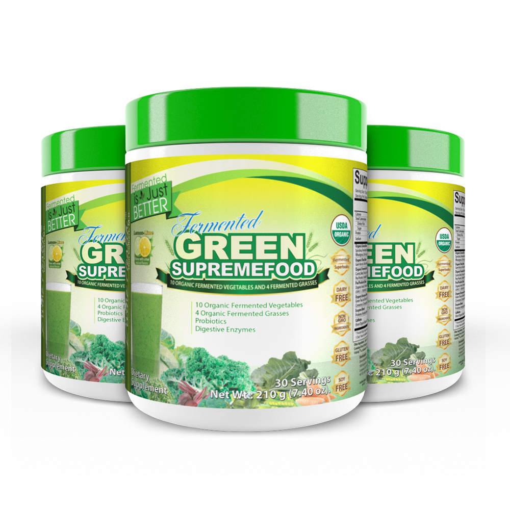 Fermented Green Supremefood® (Lemon-Lime) (90 Day Supply)