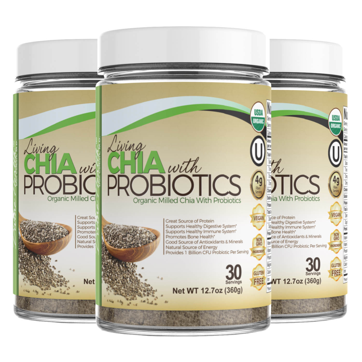 Living Chia With Probiotics (90 Day Supply) (Formally known as Fiber Formula)