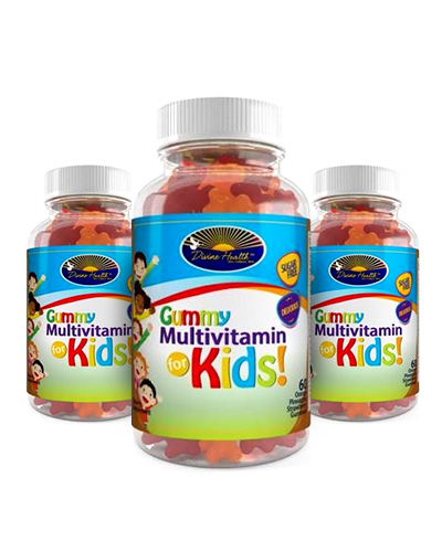 Sugar Free Multivitamin for Kids Gummy (Tropical Fruit Flavor) (90 Day Supply)