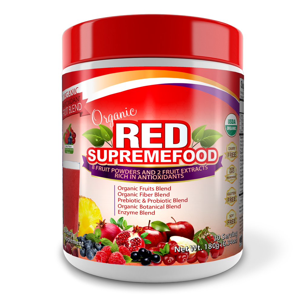 Organic Red Supremefood® (Berry Flavor) (30 Day Supply)