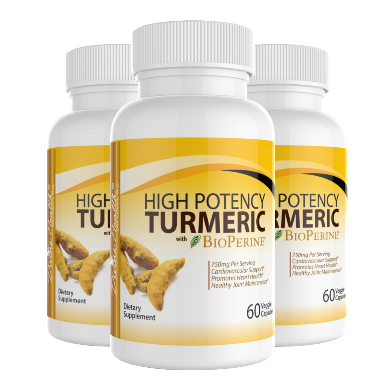 High Potency Turmeric With Bioperine (90 Day Supply)