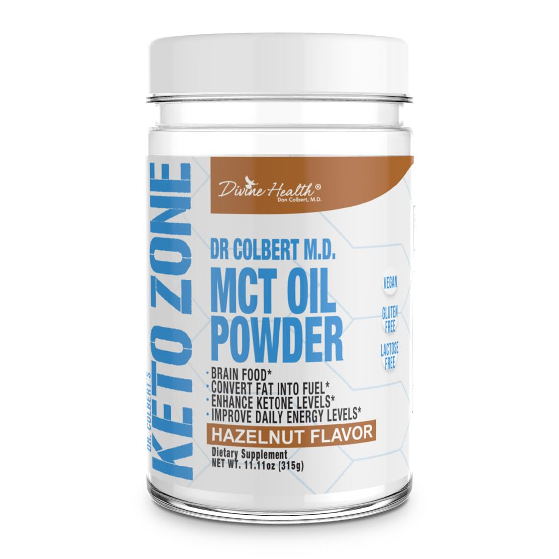 New! Keto Zone MCT Oil Powder (Hazelnut)