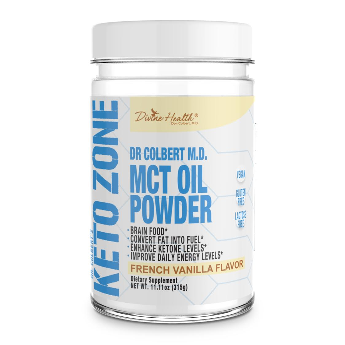 New! Keto Zone MCT Oil Powder (Vanilla)