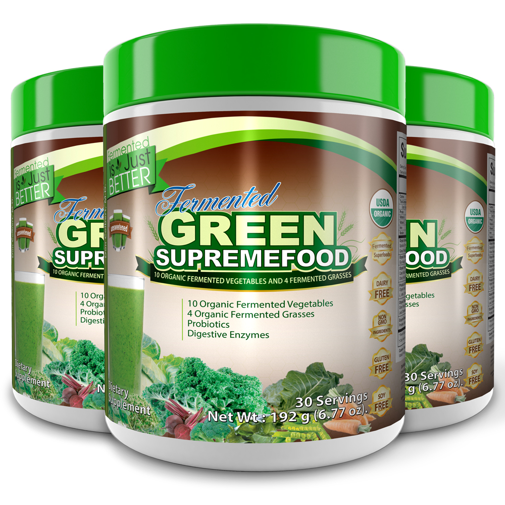 Fermented Green Supremefood®(Unsweet) (90 Day Supply)