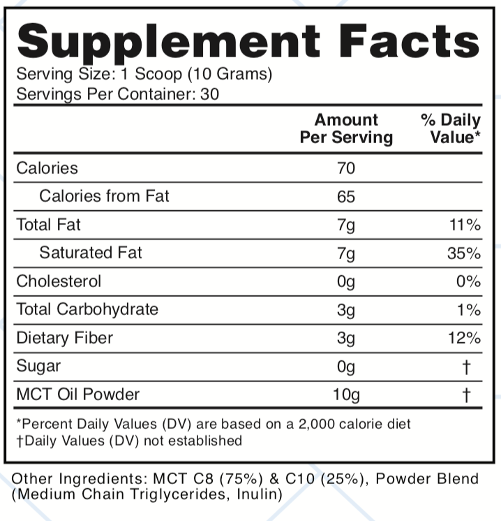 MCT Oil Powder(Unflavored)